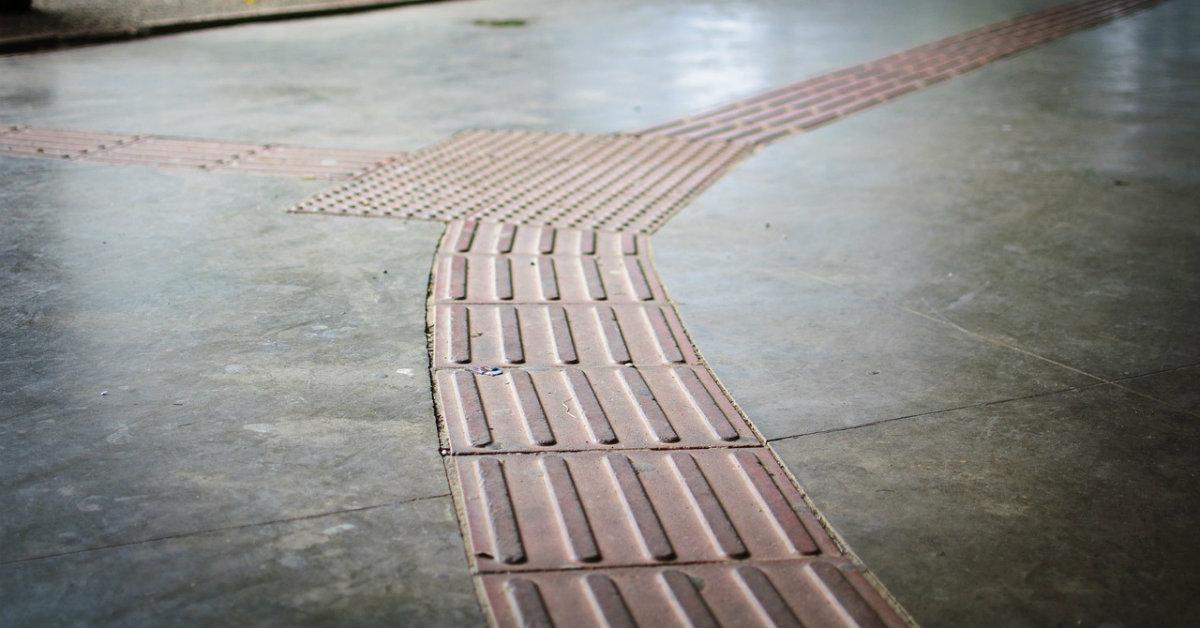 construção das calçadas