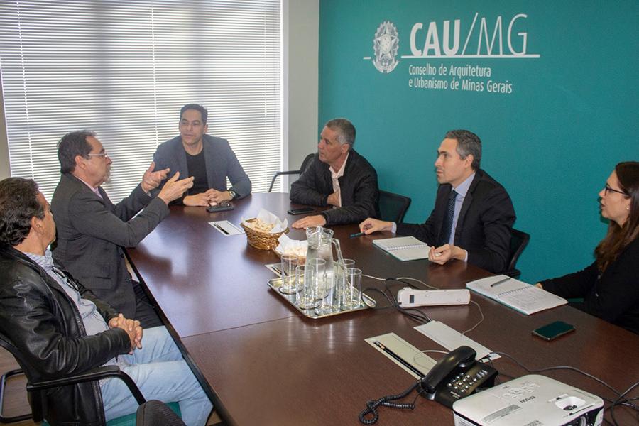 Presidentes do CAU/MG e Crea-MG